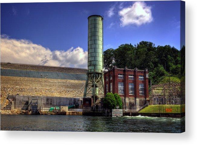 Blue Ridge Dam Acrylic Print featuring the photograph Blue Ridge Dam by Greg and Chrystal Mimbs