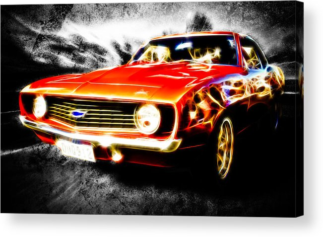 Red Camaro Acrylic Print featuring the photograph Camaro'd by Phil 'motography' Clark