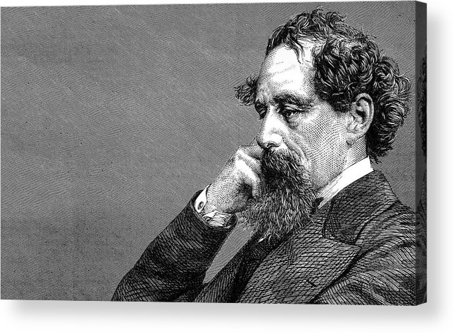 Dickens Acrylic Print featuring the photograph Charles Dickens by Daniel Hagerman