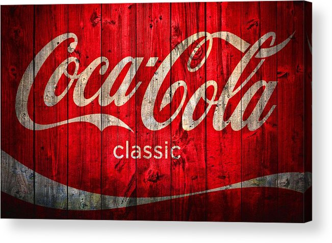 Coca Cola Classic Barn Acrylic Print featuring the photograph Coca Cola Barn by Dan Sproul