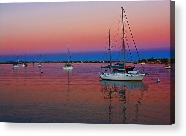 Pink Acrylic Print featuring the photograph Cotton Candy Skys by Nicole Doering