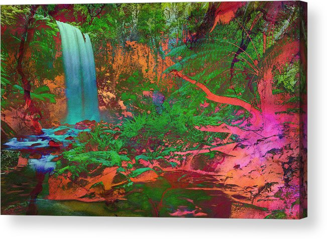 Waterfall Acrylic Print featuring the painting Euphoria by David Lee