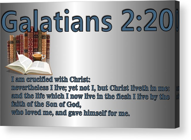 Christ Acrylic Print featuring the digital art Galatians 2 20 by Ricky Jarnagin