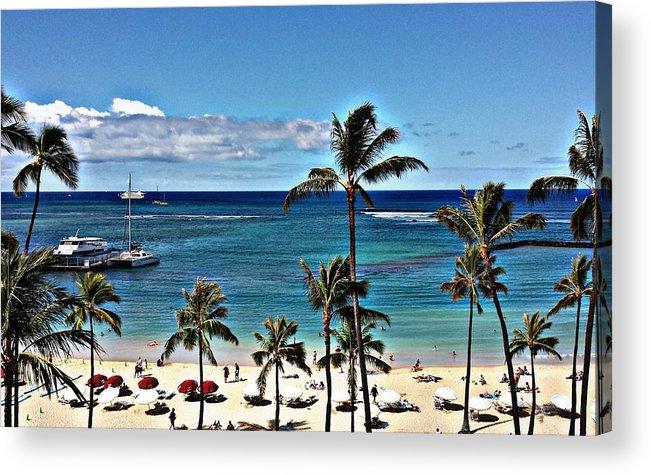 Waikiki Beach Acrylic Print featuring the photograph Good Morning Waikiki by Jennifer Boisvert