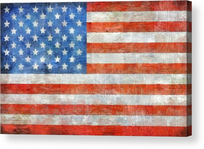Flag Acrylic Print featuring the painting Homeland by Michelle Calkins