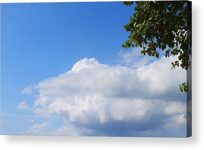 Jamaica Acrylic Print featuring the photograph Jamaica Clouds by Debbie Levene