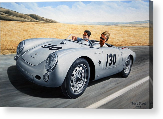 Speed Acrylic Print featuring the painting Jimmy And Rolf by Ruben Duran