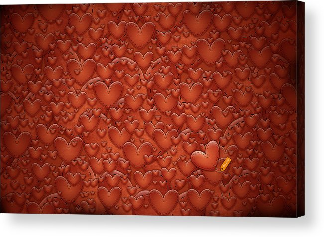 Abstract Acrylic Print featuring the drawing Love Patches by Gianfranco Weiss