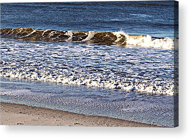 Photograph Acrylic Print featuring the photograph Marble Waves by Rebecca Phillips