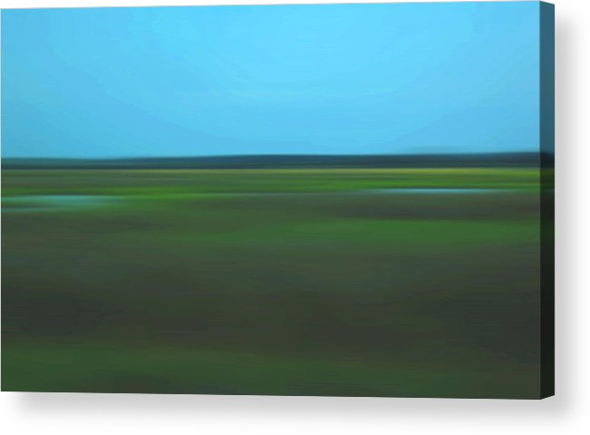 Abstract Acrylic Print featuring the photograph Marsh Blur by Suzanne Gaff