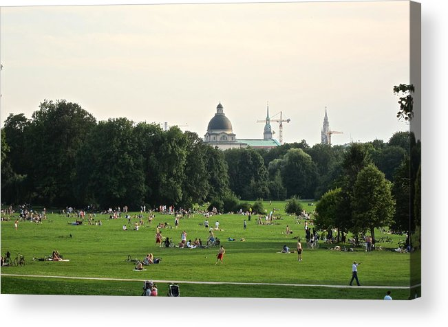 Park Acrylic Print featuring the photograph Open Park by Just fotos By Katie Fonken