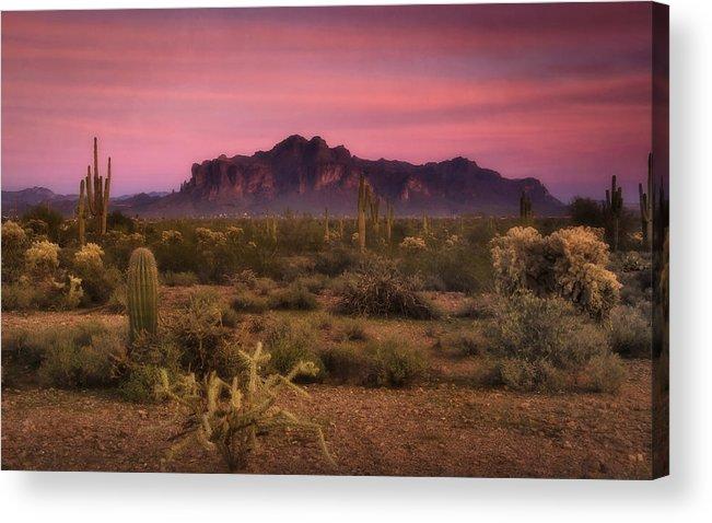 Sunset Acrylic Print featuring the photograph Paint It Pink Sunset by Saija Lehtonen