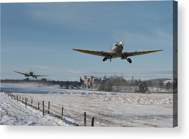 Aircraft Acrylic Print featuring the digital art Section Scramble by Pat Speirs