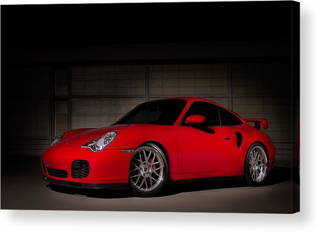Red Acrylic Print featuring the digital art Shot In The Dark by Douglas Pittman