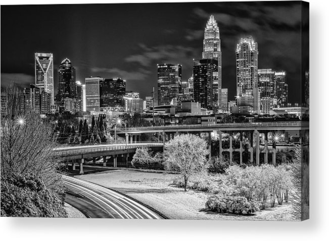 Charlotte Acrylic Print featuring the photograph Snowy South by Brian Young