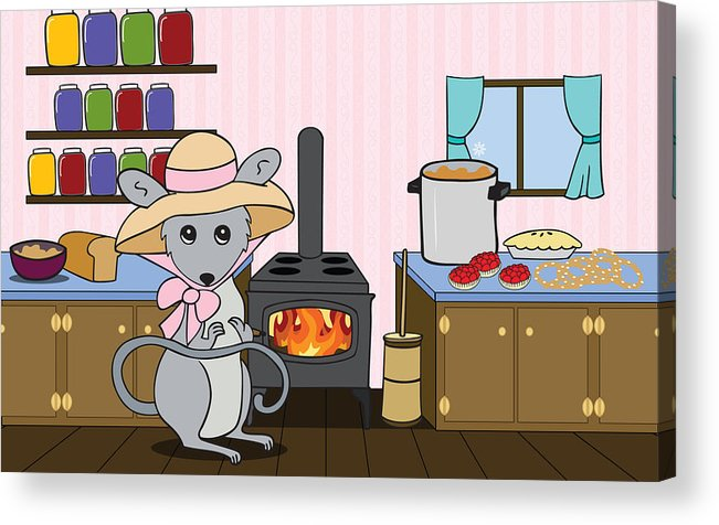 Kitchen Acrylic Print featuring the digital art Tatty's Kitchen by Christy Beckwith