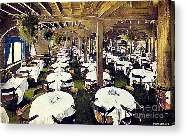 Ship Cafe Acrylic Print featuring the painting The Ship Cafe Dining Room In Venice Ca 1910 by Dwight Goss