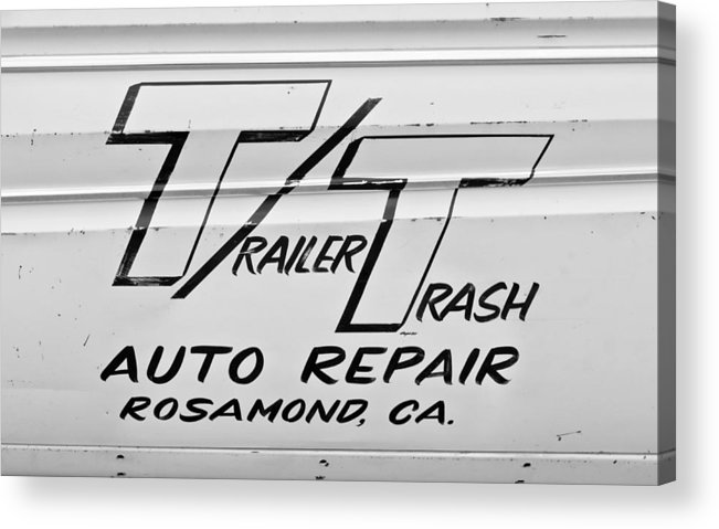 Auto Repair Acrylic Print featuring the photograph Trailer Trash by Phil 'motography' Clark