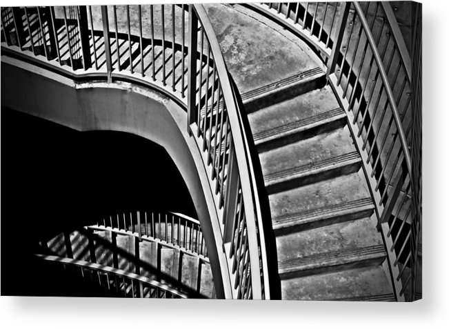 Abstracts Acrylic Print featuring the photograph Visions Of Escher by Steven Milner