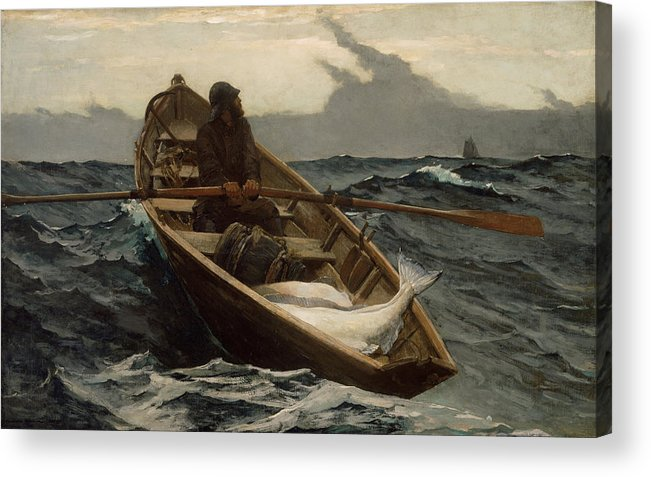 Winslow Homer Acrylic Print featuring the painting Winslow Homer The Fog Warning by Winslow Homer
