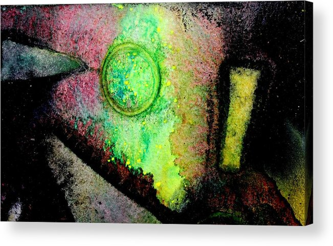 Abstract Landscape Acrylic Print featuring the painting Abstract 59 by John Nolan