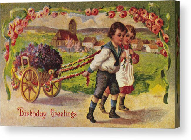 19th Century Acrylic Print featuring the photograph American Birthday Card by Granger