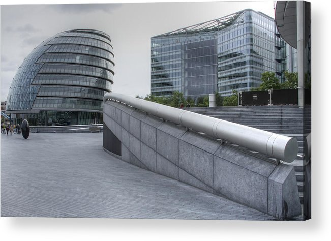 Cityscape Acrylic Print featuring the photograph City Hall And The Shard Hms Belfast Thames London by David French