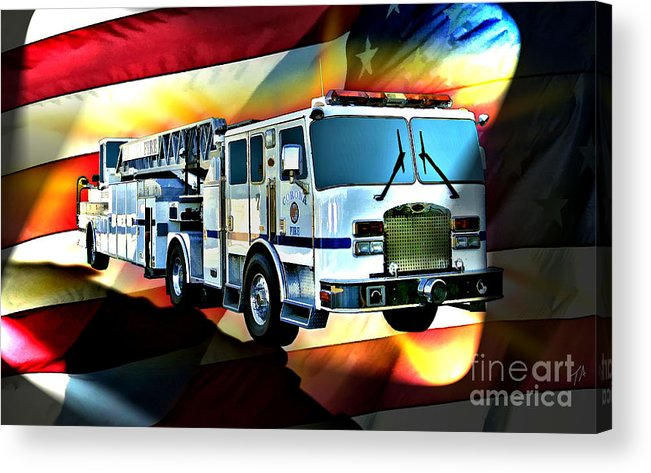Corona Acrylic Print featuring the digital art Corona Ladder 7 by Tommy Anderson