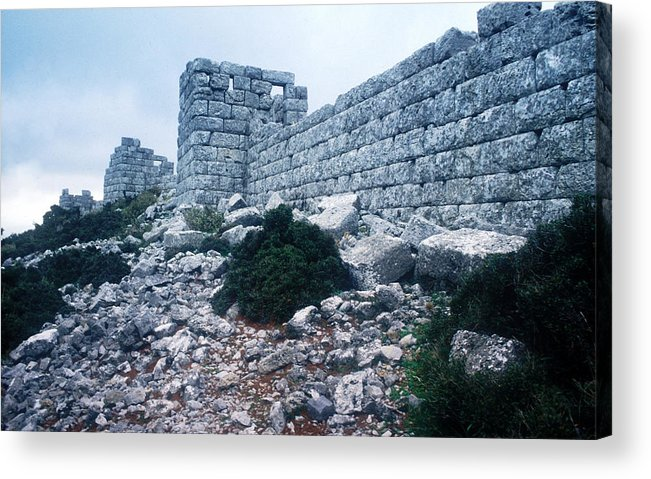 Eleutherae Fortification Acrylic Print featuring the photograph Eleutherae by Andonis Katanos