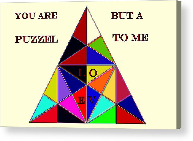 Puzzle Acrylic Print featuring the photograph Enigma by Irma BACKELANT GALLERIES