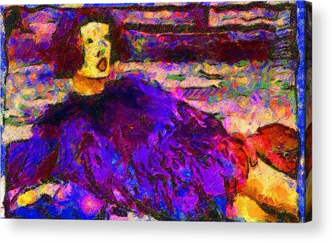 Impressionist Fashion Painting Acrylic Print featuring the painting Fashion 328 by Jacques Silberstein