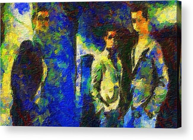 Impressionist Fashion Painting Acrylic Print featuring the painting Fashion 73 by Jacques Silberstein