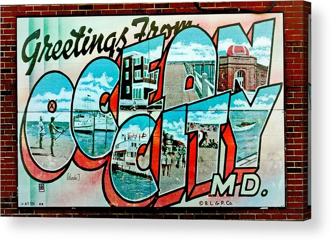 Fair Acrylic Print featuring the photograph Greetings From Oc by Skip Willits