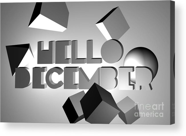 4d Acrylic Print featuring the digital art Hello December by Dody Agung Wibowo