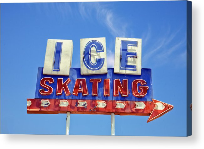 Signs Acrylic Print featuring the photograph Ice Skating by Matthew Bamberg