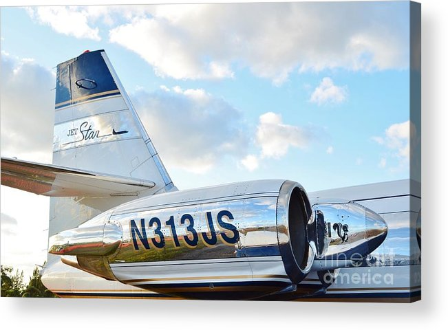 Lockheed Acrylic Print featuring the photograph Lockheed Jet Star by Lynda Dawson-Youngclaus
