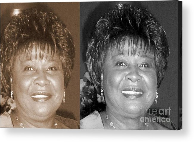 Acrylic Print featuring the photograph Madge's Sister Aunt Shirley by Angela L Walker