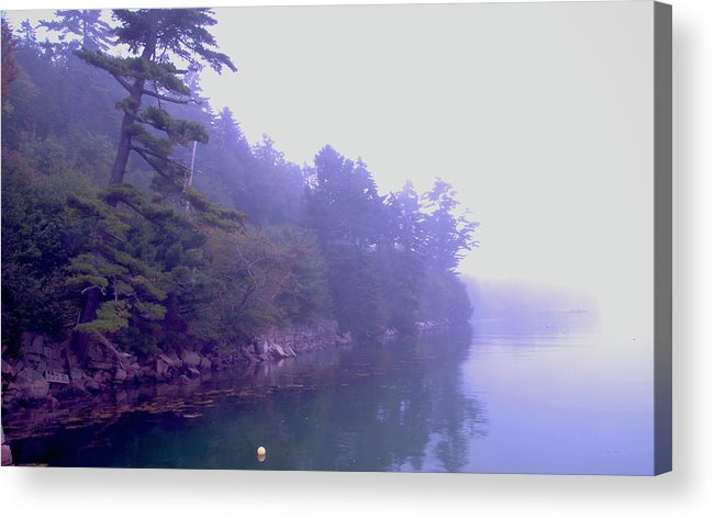 Ocean Acrylic Print featuring the photograph Mystery Island by Nancy Graham
