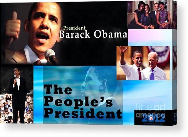 President Acrylic Print featuring the photograph The People's President by Terry Wallace