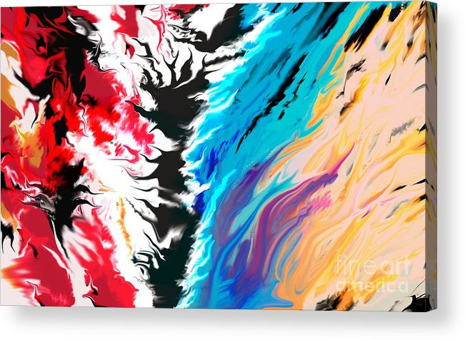 Acrylic Print featuring the digital art Untitled 1 by Kirt Bowman