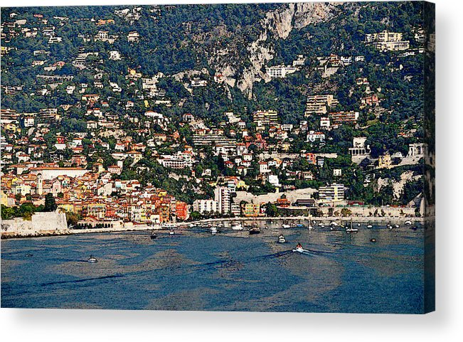 Villefranche Acrylic Print featuring the photograph Villefranche Hillside II by Steven Sparks