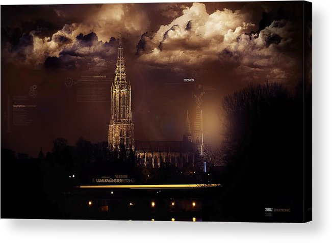 Cathedral Acrylic Print featuring the digital art Cathedral by Mery Moon