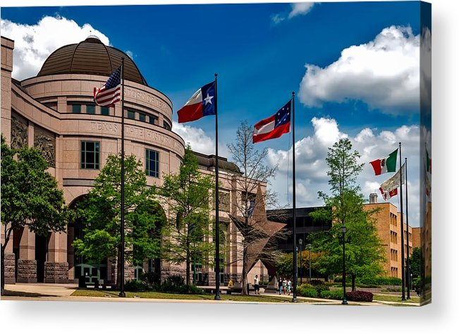 Bullock Texas State History Museum Acrylic Print featuring the photograph The Bullock Texas State History Museum by Mountain Dreams