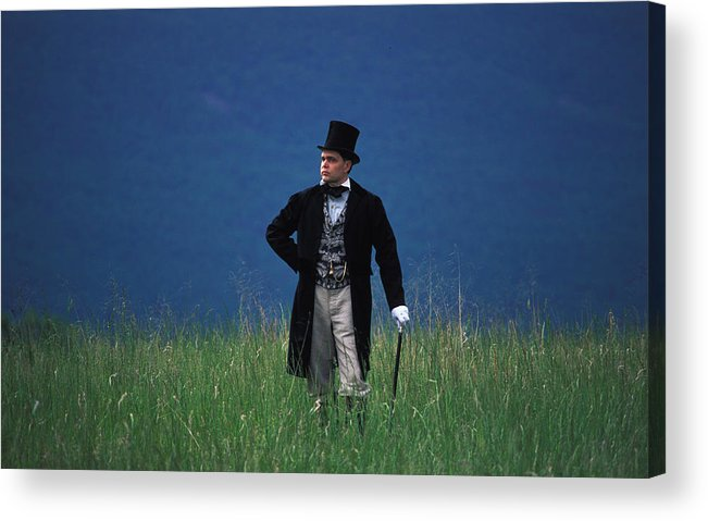 History Acrylic Print featuring the photograph A Man Outstanding In His Field by Carl Purcell