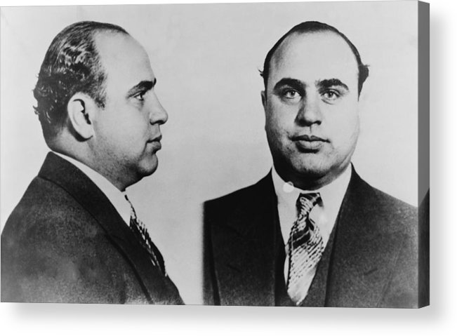 History Acrylic Print featuring the photograph Al Capone 1899-1847, Prohibition Era by Everett