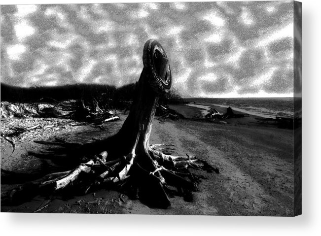 Art Acrylic Print featuring the painting All Washed Up by David Lee Thompson