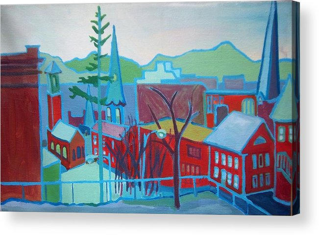 Burlington Acrylic Print featuring the painting Blue Burlington by Debra Bretton Robinson