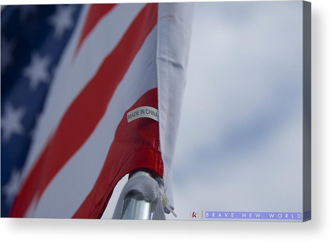 American Flag Acrylic Print featuring the photograph Brave New World by Jonathan Ellis Keys