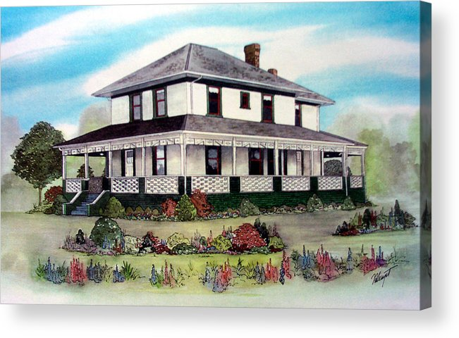 House Acrylic Print featuring the painting Cammidge House by Victoria Heryet