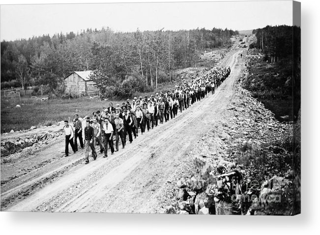 1935 Acrylic Print featuring the photograph Canada: Unemployed, 1935 by Granger